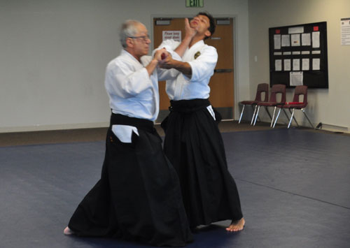 Aikido technique being performed