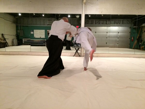Man performing Aikido