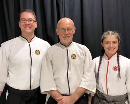 Dojo Instructors - Philippe Wyffels Sensei and Gerry Carpenter Sensei and Stephanie Beller